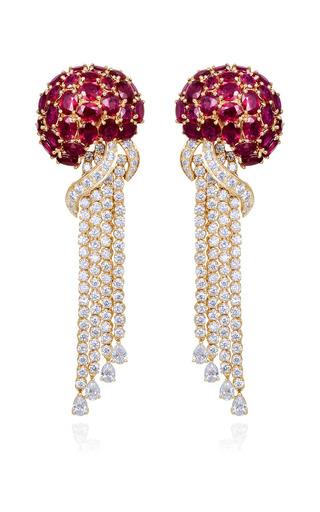 Medium farah khan fine jewelry red blaze of brilliance earrings