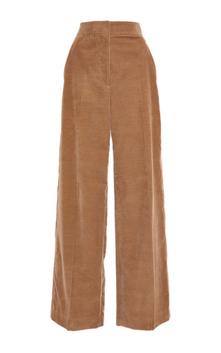 Medium rosetta getty brown cashmere corduroy high rise full pants