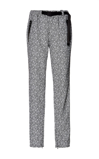 Medium proenza schouler white black and white technical tweed suiting track pant