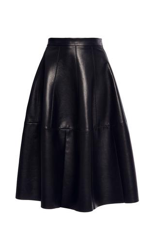 Medium j mendel black leather godet skirt