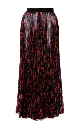 Medium j mendel multi abstract printed chiffon pleated skirt