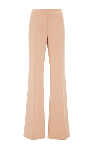 Medium derek lam print double faced crepe flared trousers