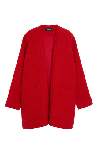 Medium derek lam red boucle kimono coat
