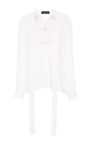 Silk Long Sleeved Lace Up Blouse by DEREK LAM Now Available on Moda Operandi
