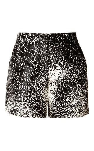 Medium monique lhuillier black printed calf hair short