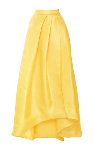 Medium monique lhuillier yellow gazar ball skirt