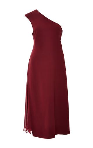 Medium monique lhuillier burgundy heavy georgette asymmetrical dress