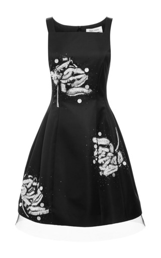 Medium prabal gurung multi embroidered molded seam dress