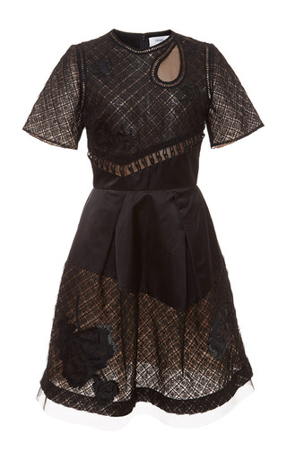 Embroidered Fit And Flare Dress by PRABAL GURUNG Now Available on Moda Operandi