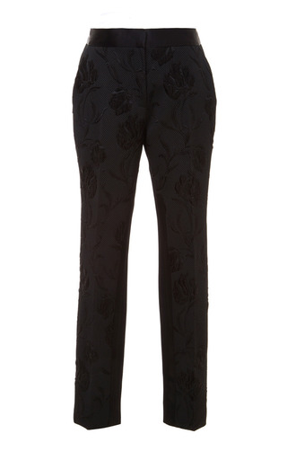 Tulip Cloque Ottoman Jacquard Tapered Pant by PRABAL GURUNG Now Available on Moda Operandi