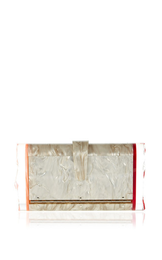 Lara Pink And Gold Clutch by EDIE PARKER Now Available on Moda Operandi