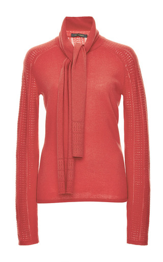 Medium zac posen red cavaliere red cashmere sweater