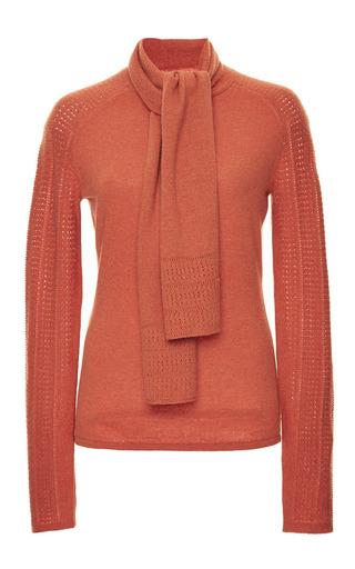 Medium zac posen orange furnace orange cashmere sweater