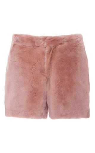 Medium adam lippes pink sheared mink short