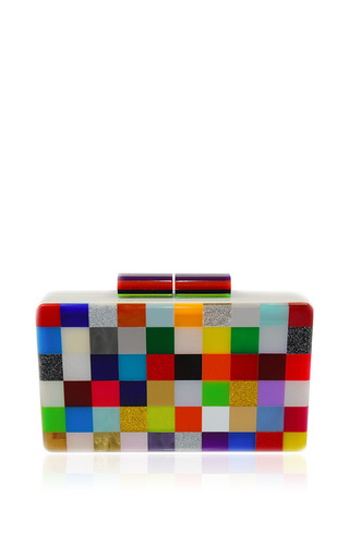 Medium urania gazelli multi pixel multicolor clutch