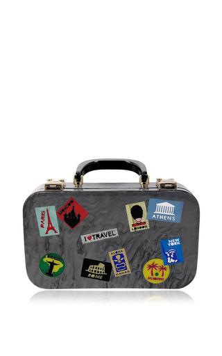 Medium urania gazelli dark grey travel bag in grey
