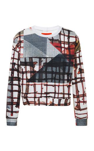 Medium clover canyon multi gradient plaid sweatshirt