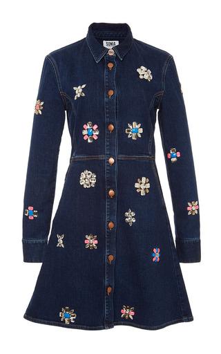 Strassed Denim Dress by SONIA BY SONIA RYKIEL Now Available on Moda Operandi