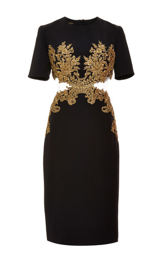 Medium reem acra multi embroidered cut out dress