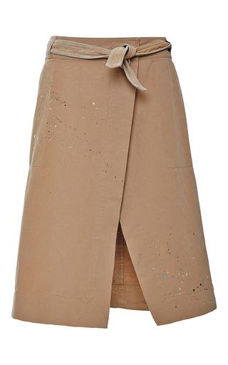Medium sea brown chino wrap skirt