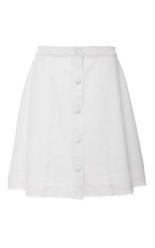 Medium sea white white denim button up mini skirt