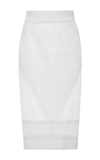 Medium jonathan simkhai white white bonded mesh skirt