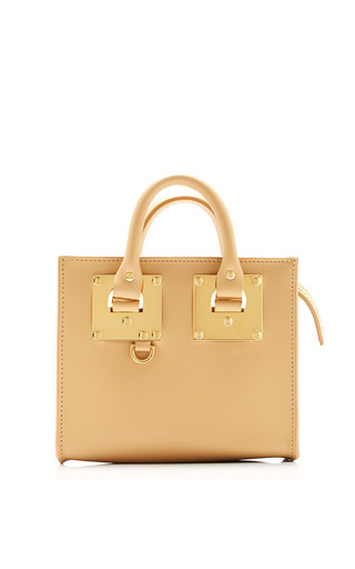Medium sophie hulme brown box camel albion box tote bag