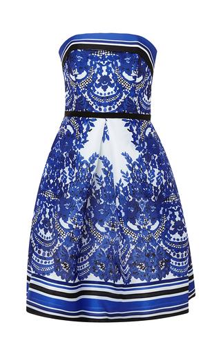 Medium naeem khan multi strapless floral print gazaar dress