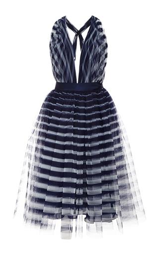 Medium naeem khan multi striped tulle halter dress