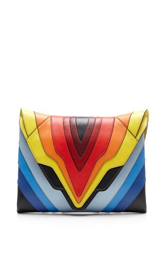 Medium elena ghisellini multi pochette fatale rainbow flag large clutch