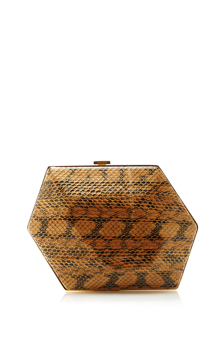 Medium nina ricci print diamante minaudiere in elaphe skin