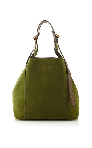 Medium nina ricci green medium faust bag in suede skin