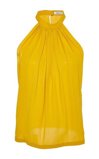Medium nina ricci gold silk crepe sleeveless top