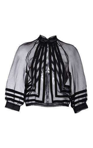 Medium nina ricci black organza blouse with ribbon embroideries