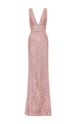 Medium elie saab pink blush v neck embroidered gown 2