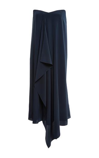 Medium tibi black crepe de chine strapless towel dress