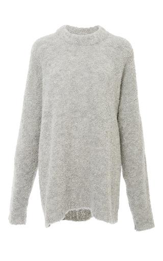 Medium tibi dark grey grey oversized cozy alpaca sweater