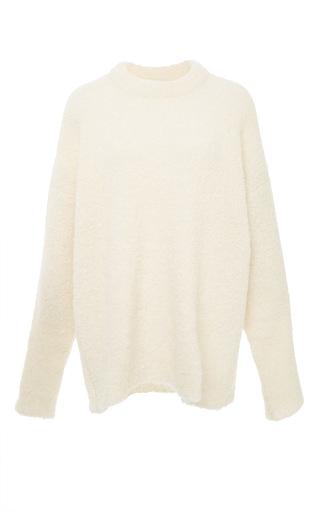 Medium tibi white ivory oversized cozy alpaca sweater