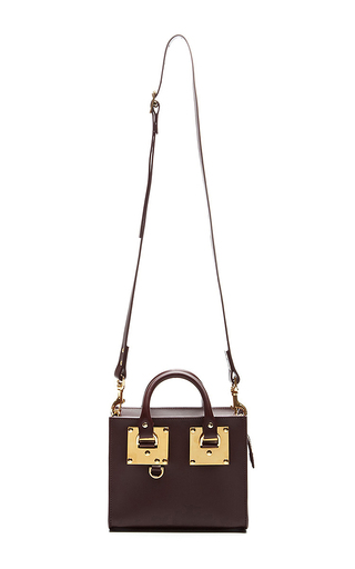 Box Tote Bag In Oxblood by SOPHIE HULME Now Available on Moda Operandi