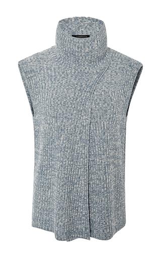 Medium thakoon dark grey lambswool cross front pullover