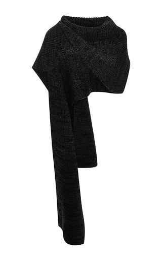 Medium thakoon dark grey charcoal ribbed pullover scarf