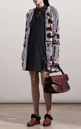 Rabbit Fur Cardigan Coat by THAKOON Now Available on Moda Operandi