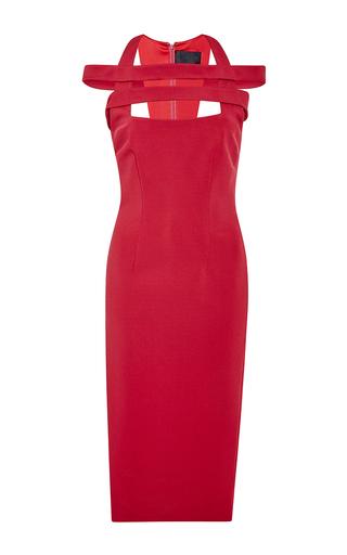 Medium cushnie et ochs red power viscose dress