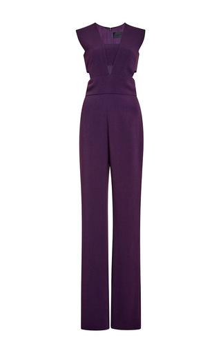 Medium cushnie et ochs purple stretch cady cut out jumpsuit