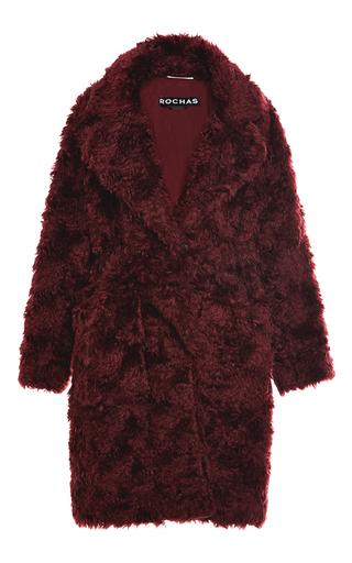 Medium rochas red dark red teddy bear coat