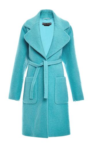 Medium rochas blue wool boucle coat
