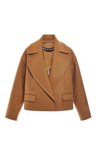 Medium rochas brown wool cashmere oversize jacket