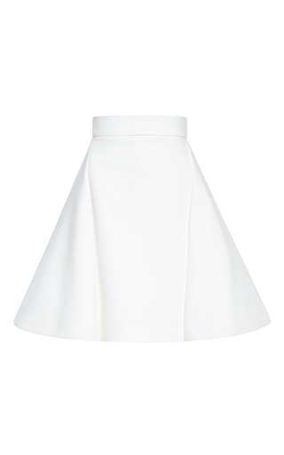 Medium antonio berardi white double techno stretch skirt
