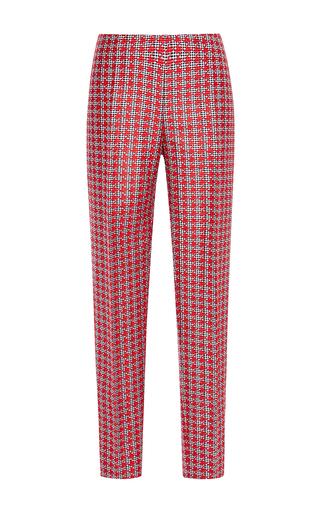 Medium antonio berardi red double woven micro check trouser