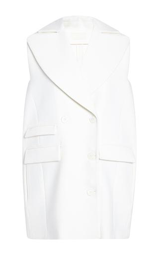 Medium antonio berardi white double plain wool gilet